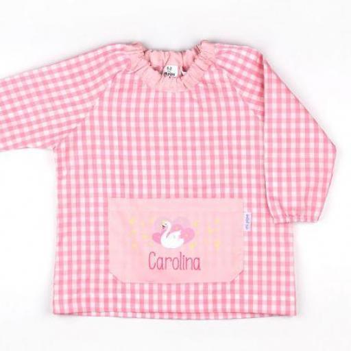 Babi bolsillo Cisne rosa personalizado