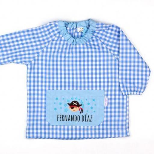 Babi bolsillo Pirata azul personalizado