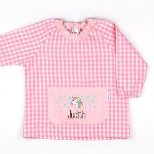 Babi bolsillo Unicornio rosa personalizado