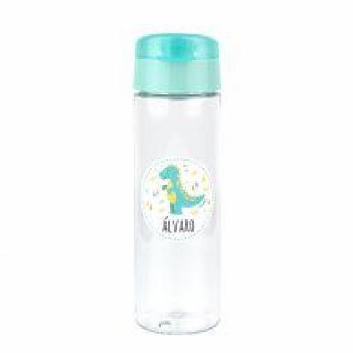 Botella 600ml Personalizada Dinosaurio