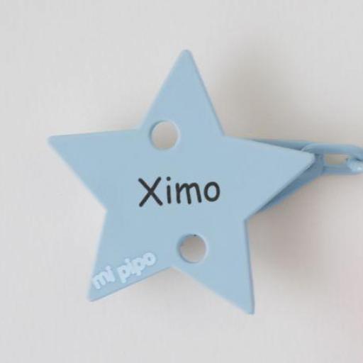 Broche-pinza estrella (colores)