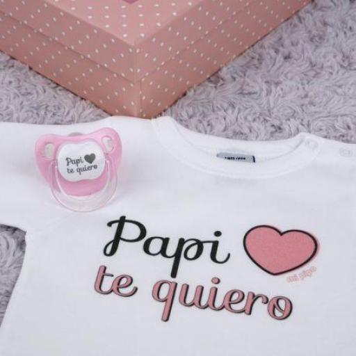 Cajita Papi te quiero (colores)