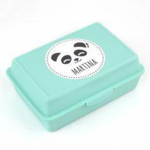 Cajita Porta alimentos Personalizada Panda (colores)