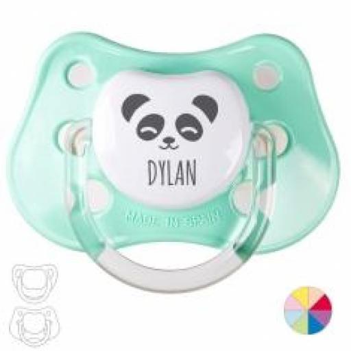 Chupete Panda personalizado (colores)