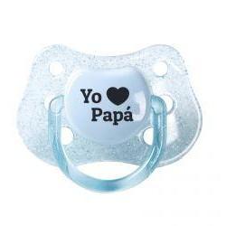 """Chupete """"Yo love papá"""" (colores)"""
