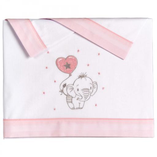Tríptico sábanas Elefantino rosa