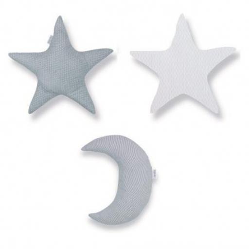 Set 3 cojines formas Luna