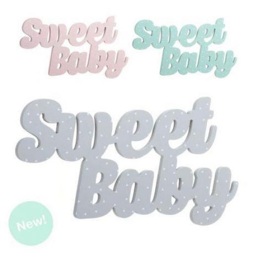 Letras madera Sweet baby