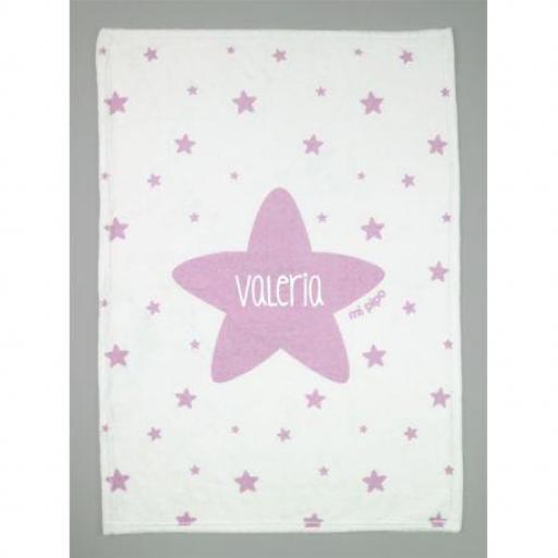 Manta estrella personalizada (colores)