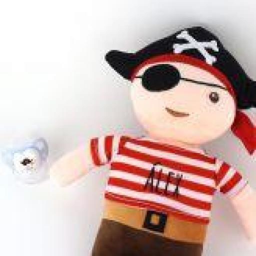Pack muñeco + chupete Hada/Pirata
