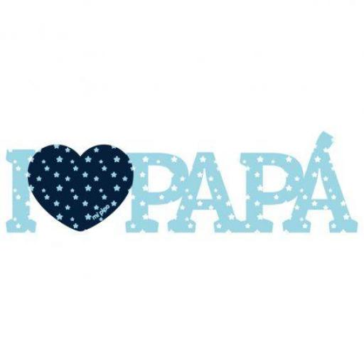 Madera I love papá (colores) [1]