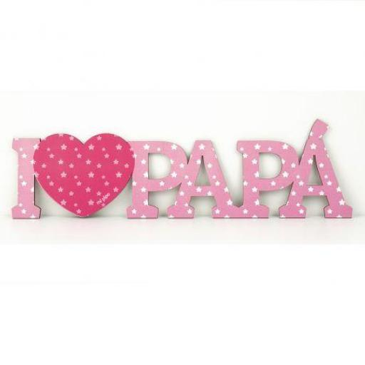 Madera I love papá (colores)