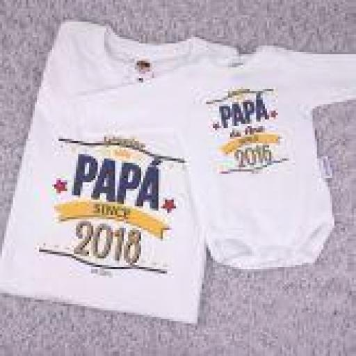 Pack 2 camisetas Papá desde... (colores)