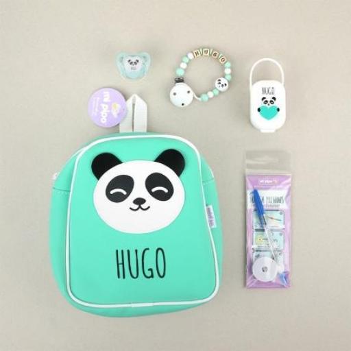 Pack El Cole mola Panda Menta