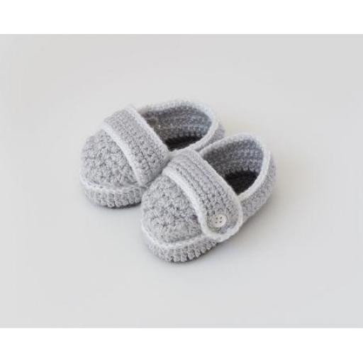 Zapato botón ganchillo (colores) [1]