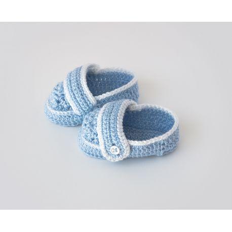 Zapato botón ganchillo (colores)