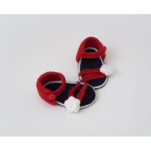 Sandalia ganchillo (colores)