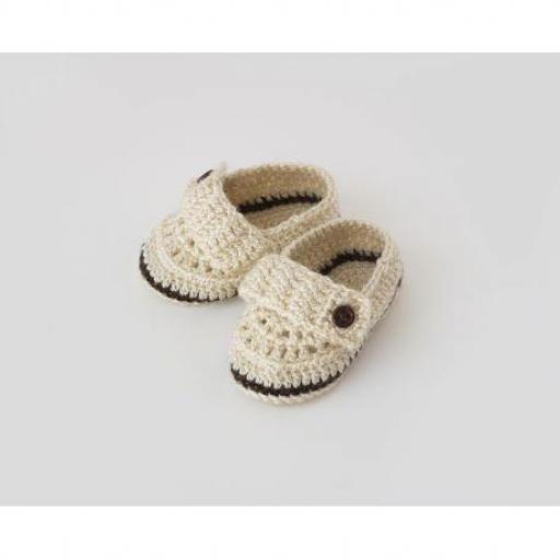 Zapato botón ganchillo (colores) [2]