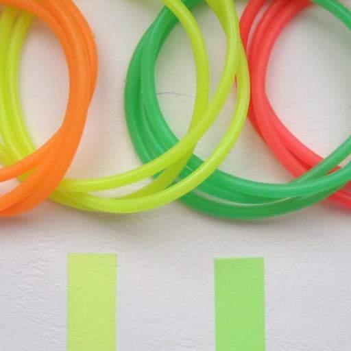 12 Pulseras de Goma - Colores Neón  [3]