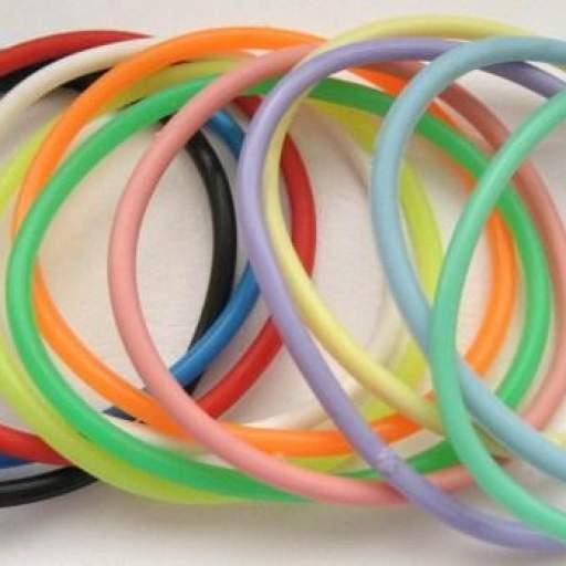 12 Pulseras Goma -  Surtido Colores [2]