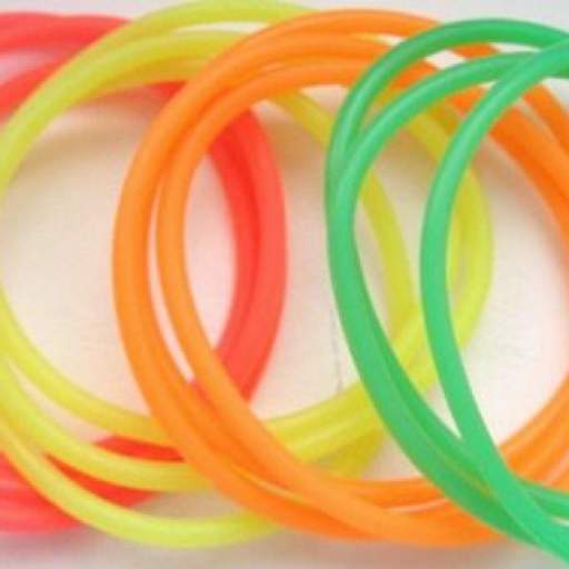 12 Pulseras de Goma - Colores Neón  [1]
