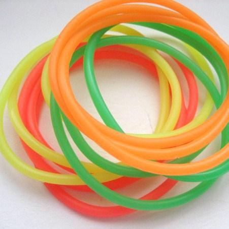 12 Pulseras de Goma - Colores Neón