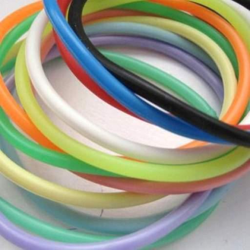 12 Pulseras Goma -  Surtido Colores