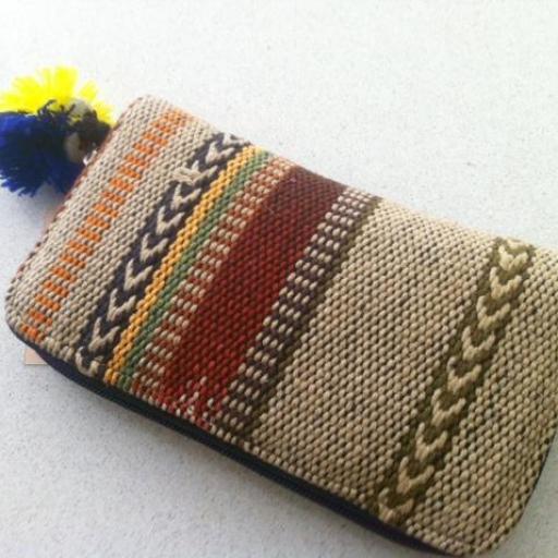 Cartera de algodón tejido