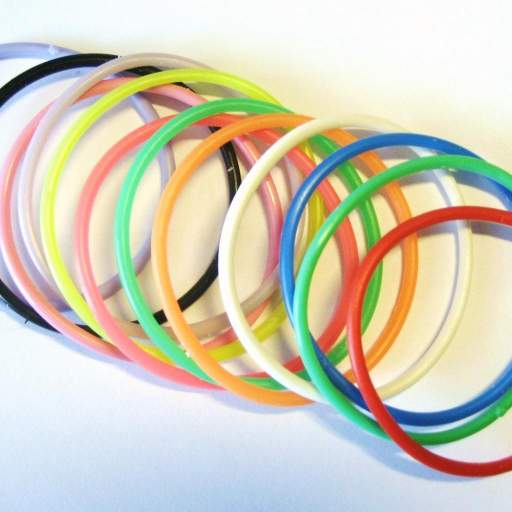 12 Pulseras Goma -  Surtido Colores [1]