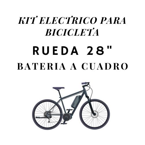 kit electrico para bicicleta rueda 28 bateria a cuadro
