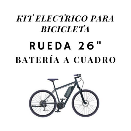 kit electrico para bicicleta rueda 26 bateria a cuadro