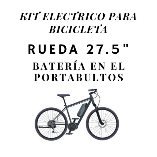 kit electrico para bicicletas rueda 27.5 bateria en el portabultos