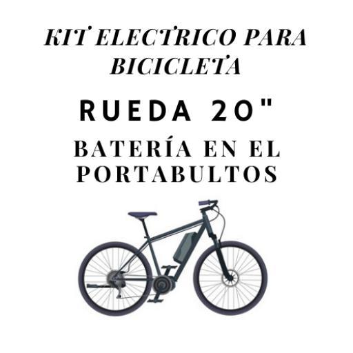 kit electrico para bicicleta rueda 20 bateria en el porabultos [0]