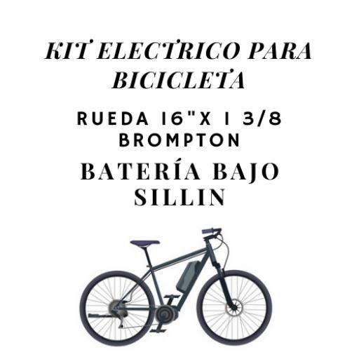 "Kit eléctrico para bicicleta Rueda 16"" x 1 - 3/8 (Bromptom)"