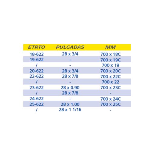 CÁMARA MICHELIN A1 700x18/25c PRESTA 52 mm [1]