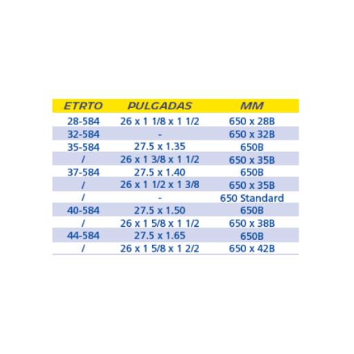 CÁMARA MICHELIN B3 650 A Y B VALVULA PRESTA 29MM [1]