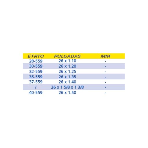 CÁMARA MICHELIN C2 26x1.1/1.5 PRESTA 40 mm [1]