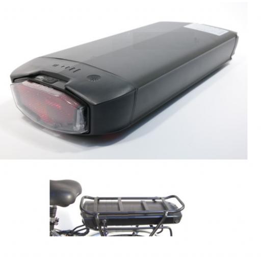"""Kit eléctrico para bicicleta Rueda 27.5"""" Batería en el portabultos [1]"""