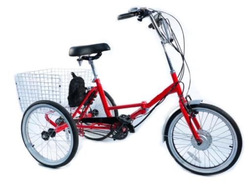 Triciclo eléctrico plegable