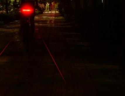 camino de luz laser bicicleta