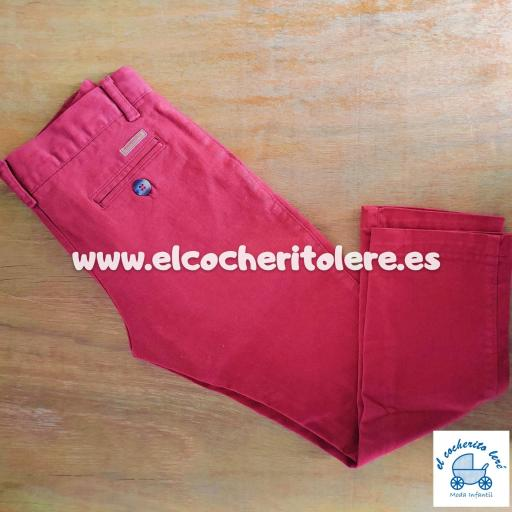 PANTALON CHINO LARGO BURDEOS