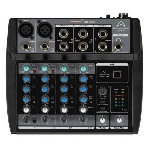 Wharfedale Pro Connect 802 Usb Mesa de Mezclas