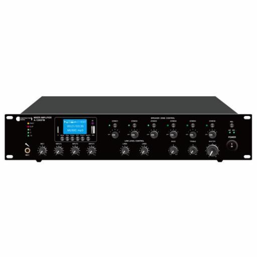 Contractor Audio A-1206Fm Amplificador para Megafonía 6 Zonas 120 Watios