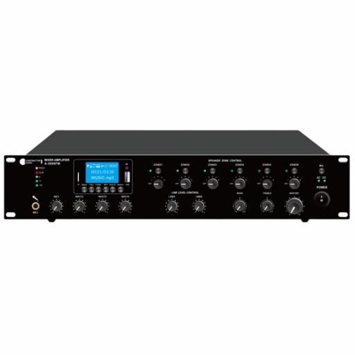 Contractor Audio A-5006Fm Amplificador para Megafonía 6 Zonas 500 Watios