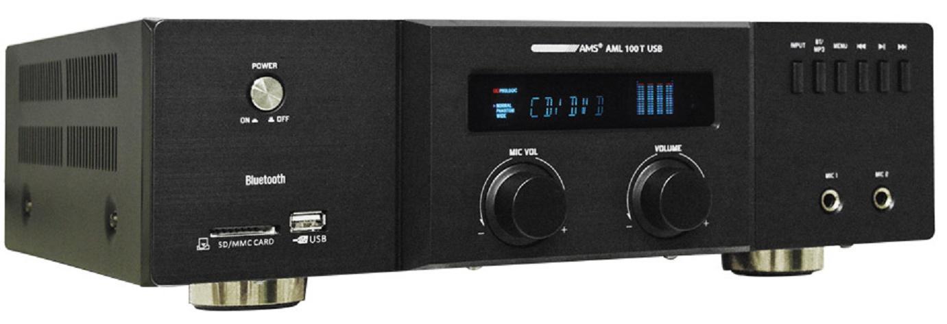 Ams Aml 100T Usb Amplificador/Mezclador para Instalación con BlueTooth