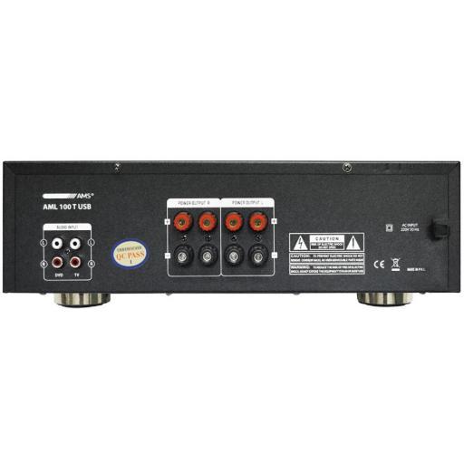 Ams Aml 100T Usb Amplificador/Mezclador para Instalación con BlueTooth [1]