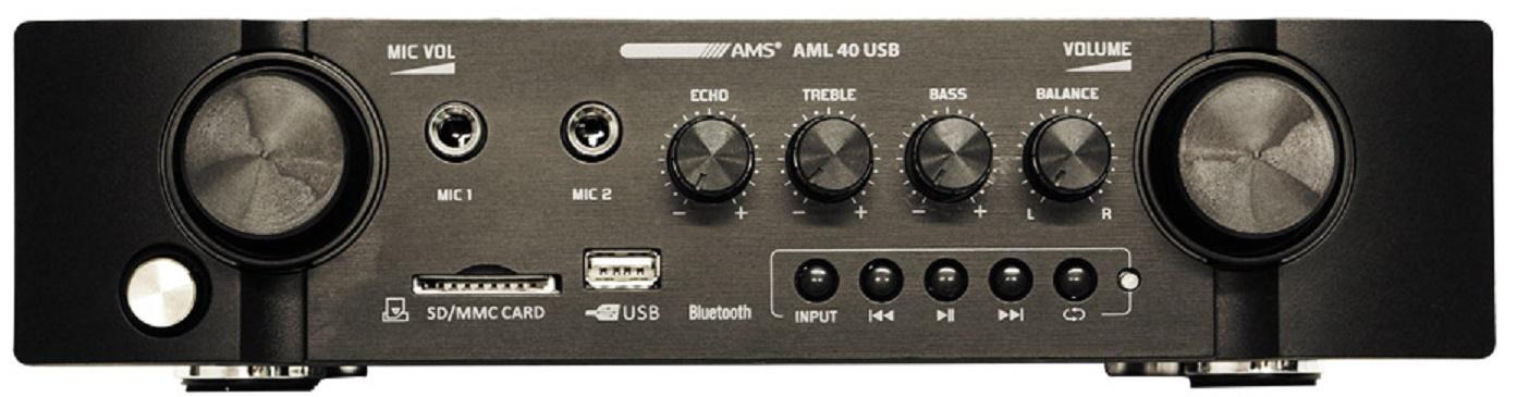 Ams Aml 40 Usb Amplificador/Mezclador para Instalación