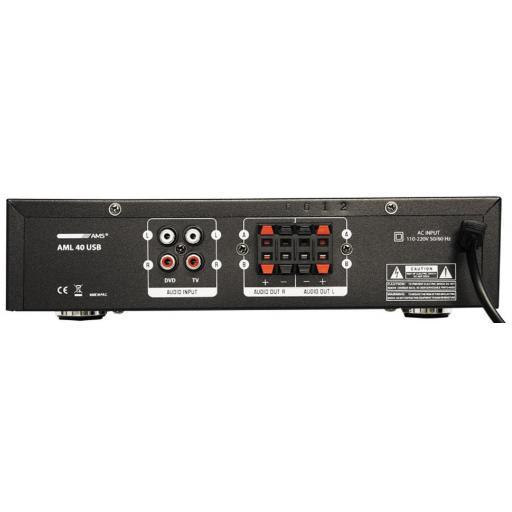 Ams Aml 40 Usb Amplificador/Mezclador para Instalación [1]