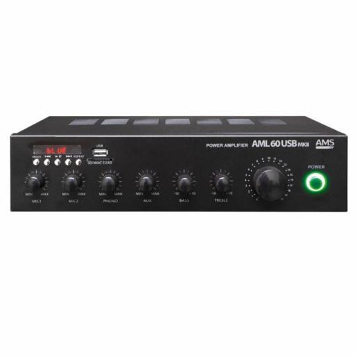 Ams Aml 60 Usb MkII Amplificador/Mezclador para Instalación