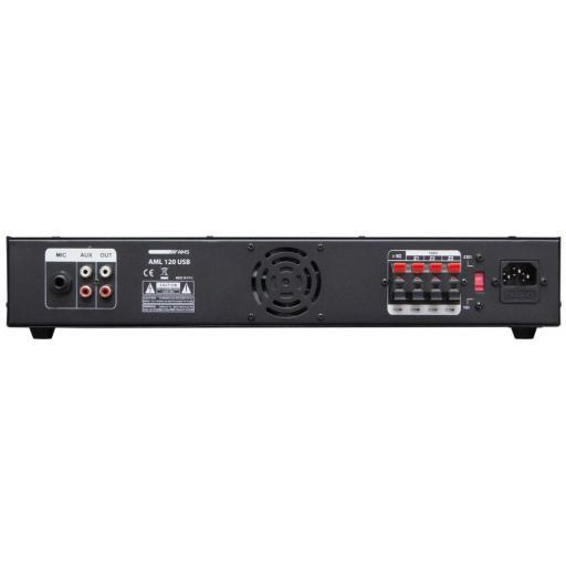 Ams Aml 120 Usb Amplificador/Mezclador para Instalación [1]